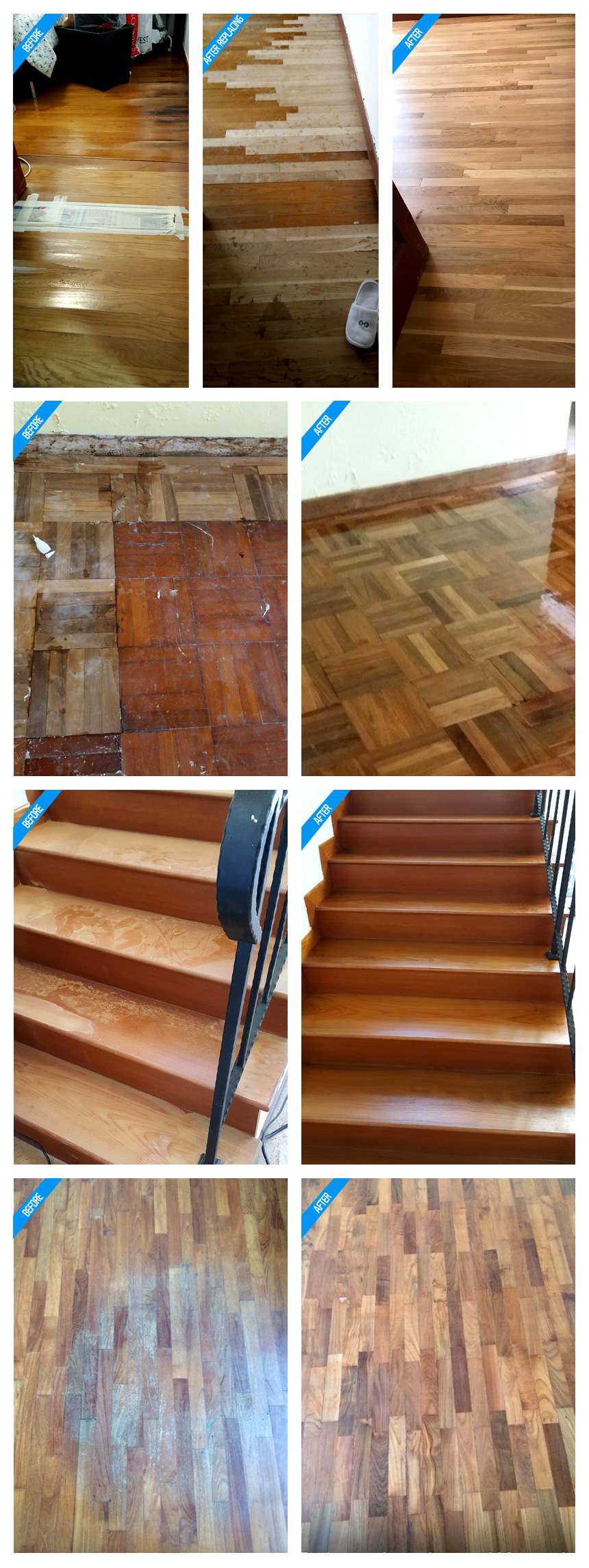 Parquet - before / after